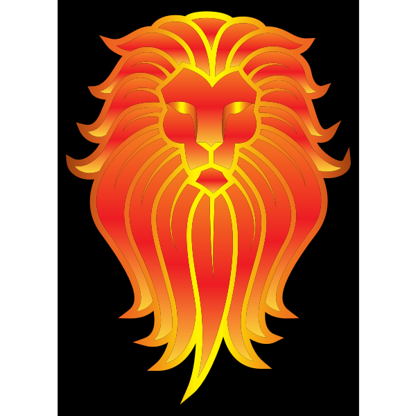 Chromatic Lion Face Tattoo 4