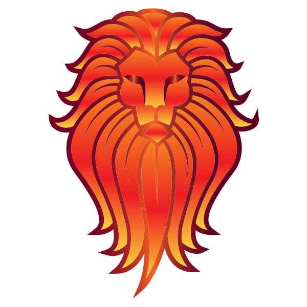 Chromatic Lion Face Tattoo 5 No Background