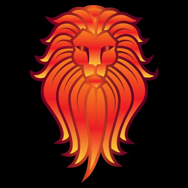 Chromatic Lion Face Tattoo 5