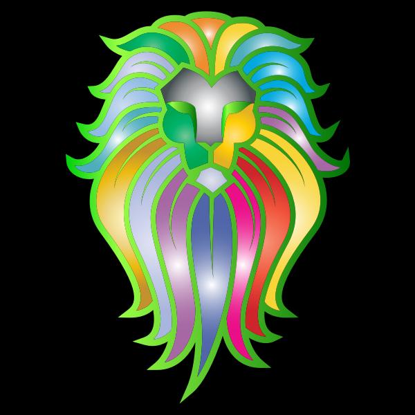Chromatic Lion Face Tattoo 6