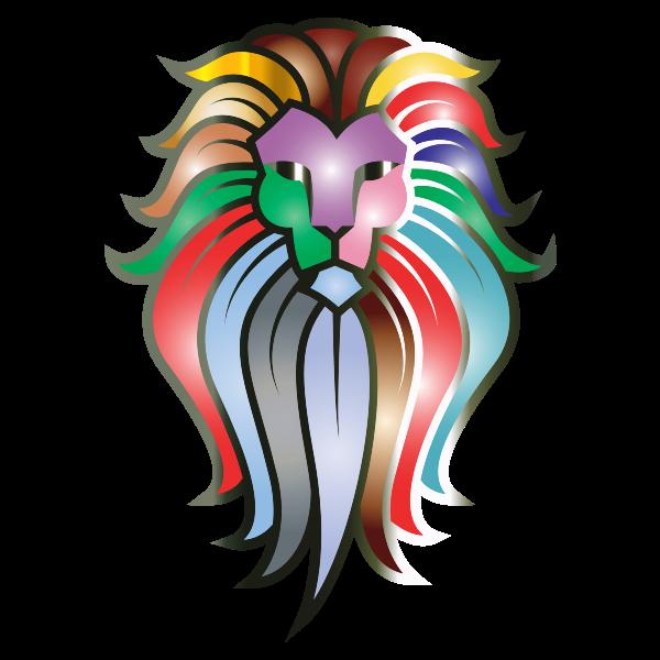 Chromatic Lion Face Tattoo 7