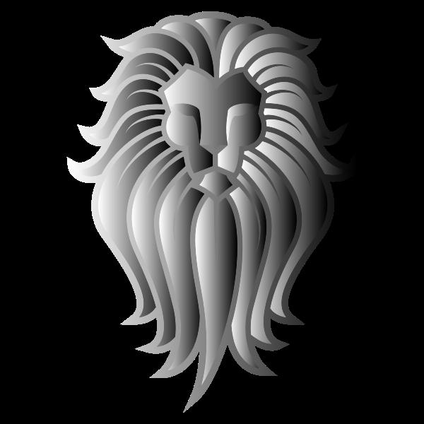 Chromatic Lion Face Tattoo 8