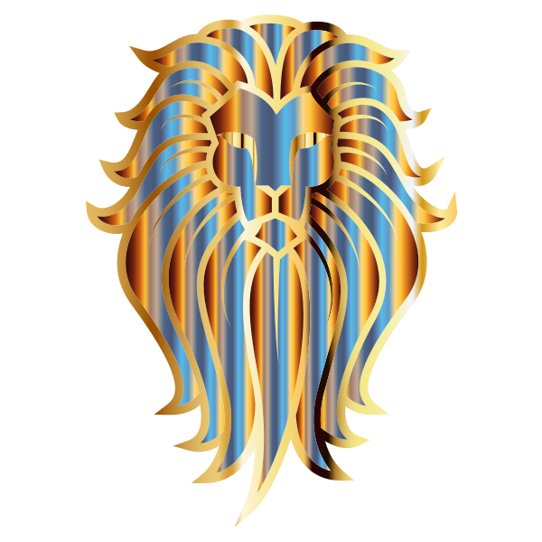 Chromatic Lion Face Tattoo No Background
