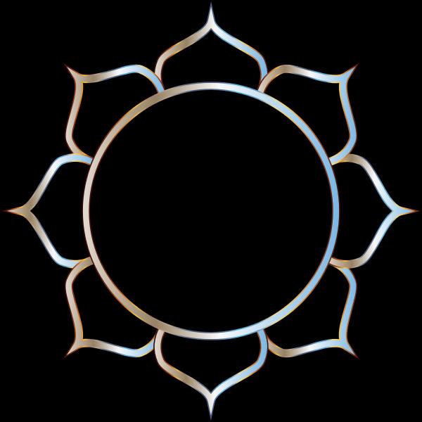 Chromatic Lotus Flower Line Art 2