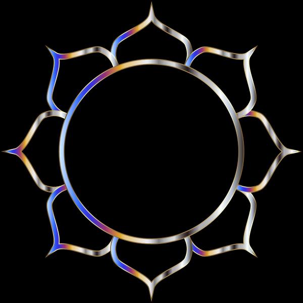 Chromatic Lotus Flower Line Art 3
