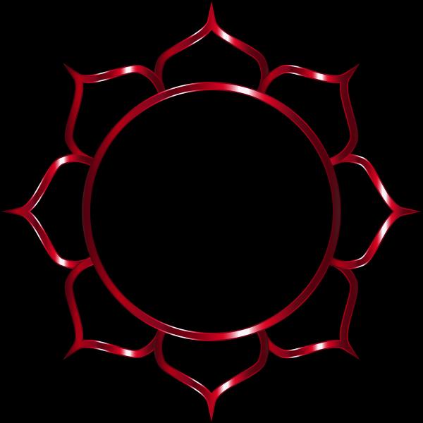 Chromatic Lotus Flower Line Art 4