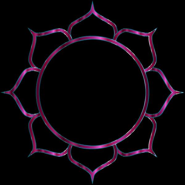 Chromatic Lotus Flower Line Art 5