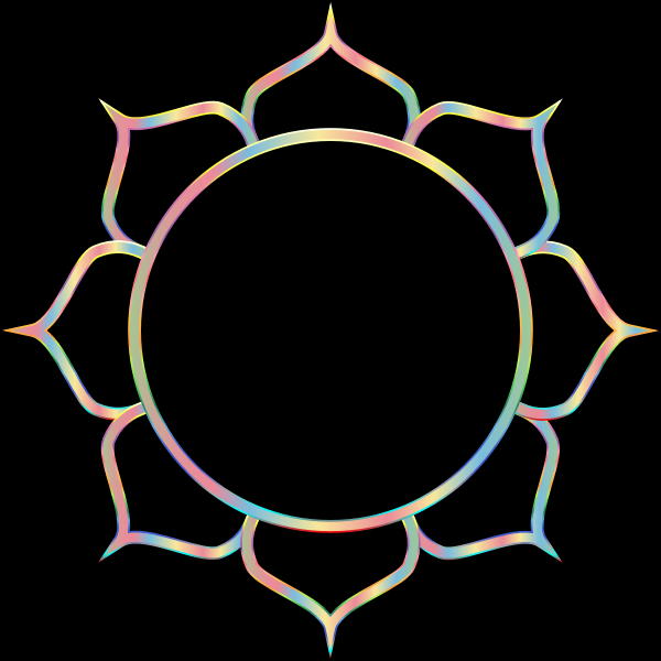 Chromatic Lotus Flower Line Art 7