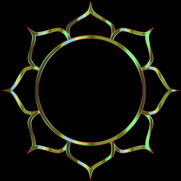 Chromatic Lotus Flower Line Art 8