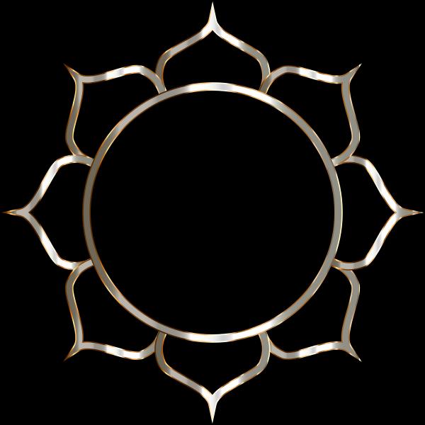 Chromatic Lotus Flower Line Art