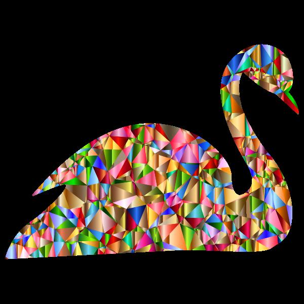 Chromatic Low Poly Swan