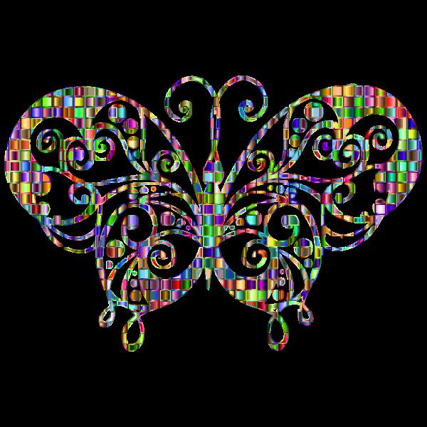 Chromatic Mosaic Flourish Butterfly