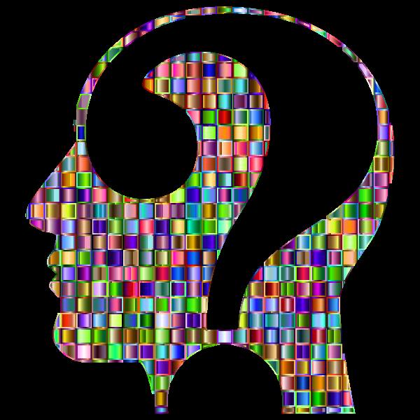 Chromatic Mosaic Question Head