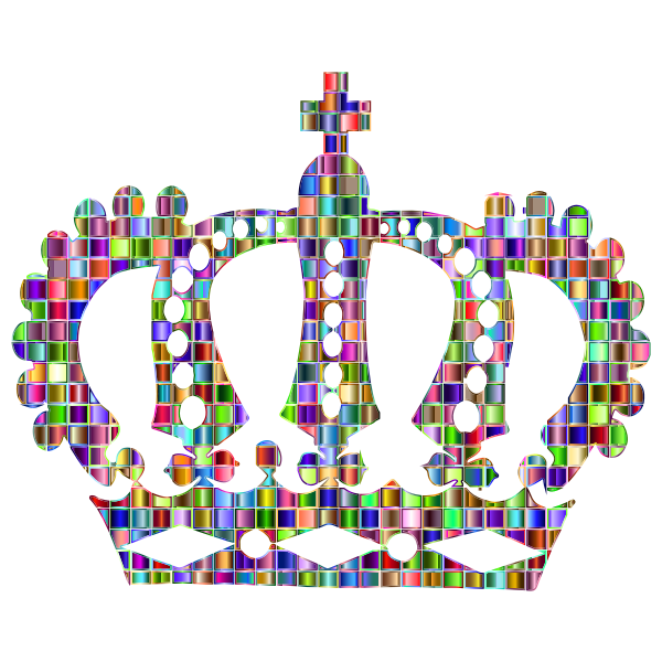 Chromatic Mosaic Royal Crown