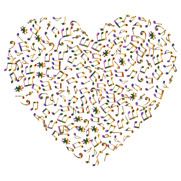 Chromatic Musical Heart 4 No Background