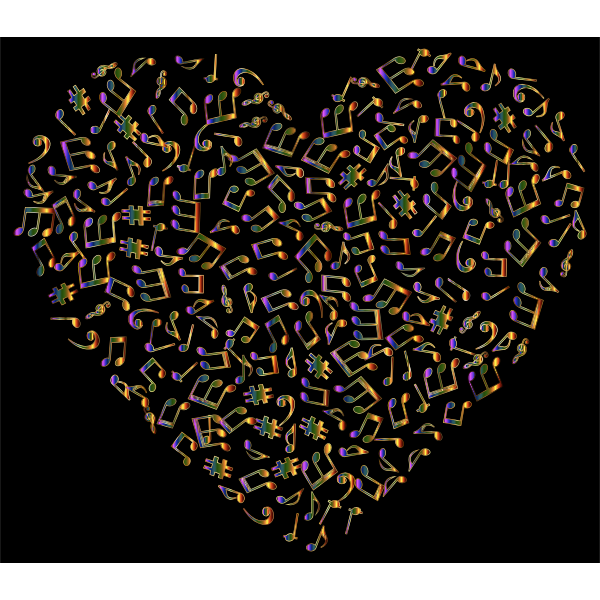 Chromatic Musical Heart 4