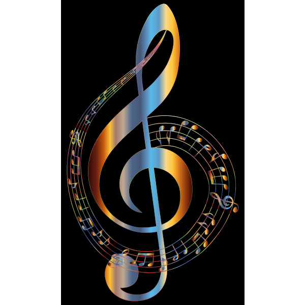 Chromatic Musical Notes Typography 2
