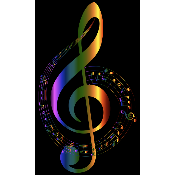 Chromatic Musical Notes Typography