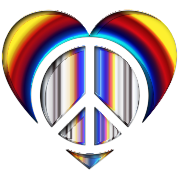 Chromatic Peace Heart