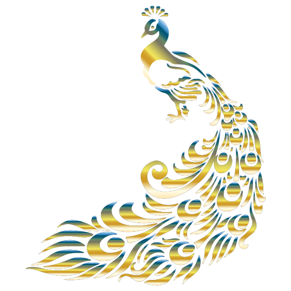 Chromatic Peacock 4 No Background