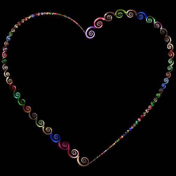 Chromatic Spirals Heart Shape