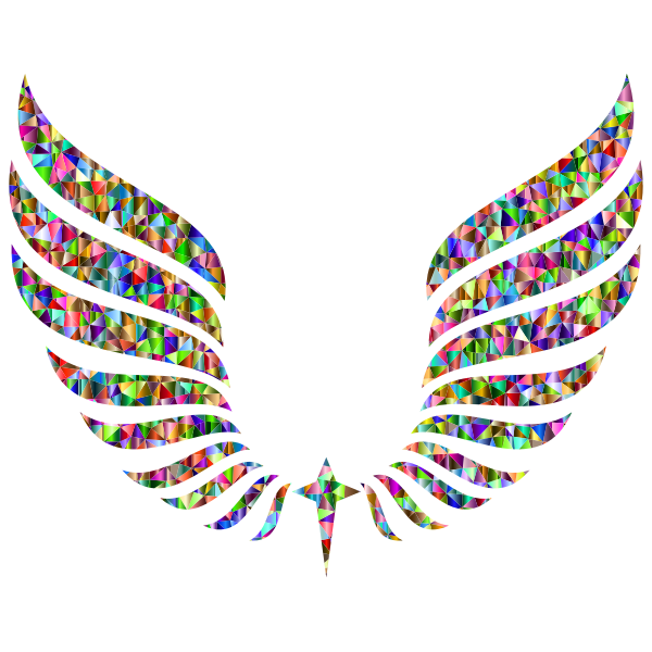 Chromatic Triangular Abstract Wings