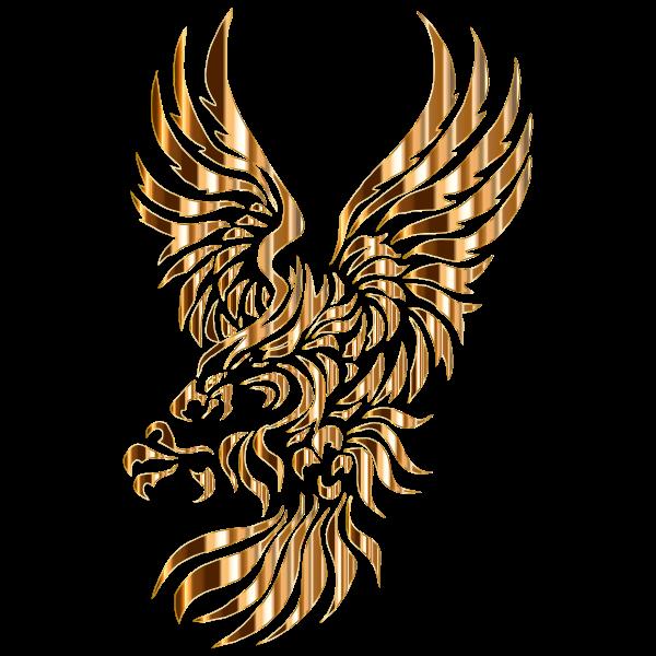 Heraldic Eagle Silhouette No Background