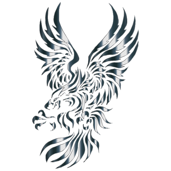 Chromatic Effect Heraldic Tribal Eagle No Background