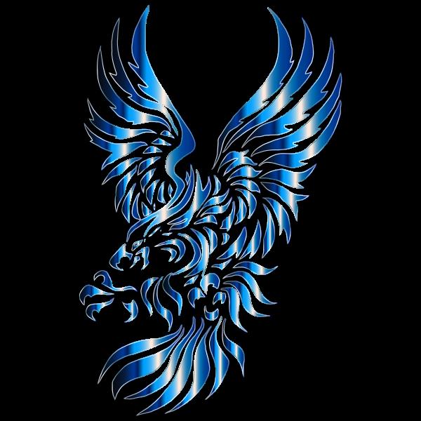 Chromatic Texture Tribal Heraldic Eagle No Background