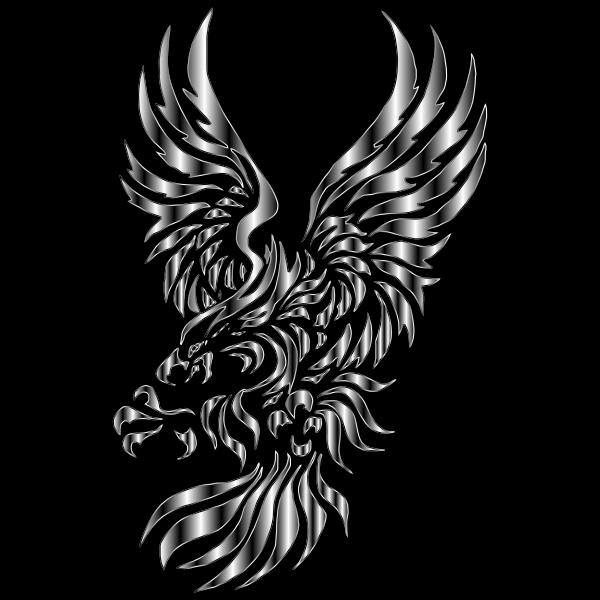 Tribal Design Eagle Silhouette