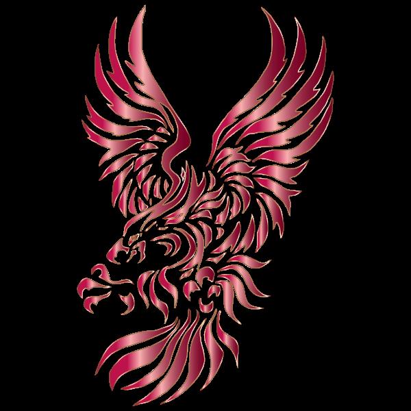 Tribal Heraldic Eagle Silhouette No Background