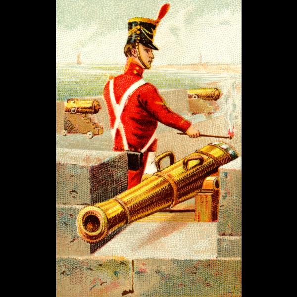 Cannon in battle