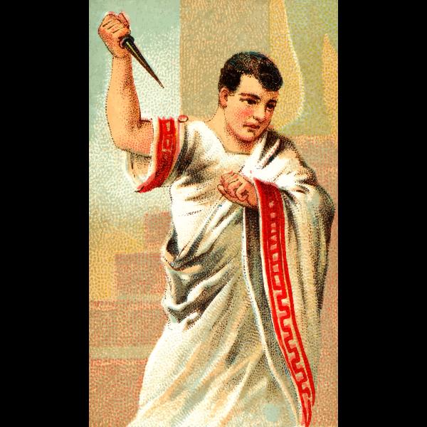 Roman with dagger