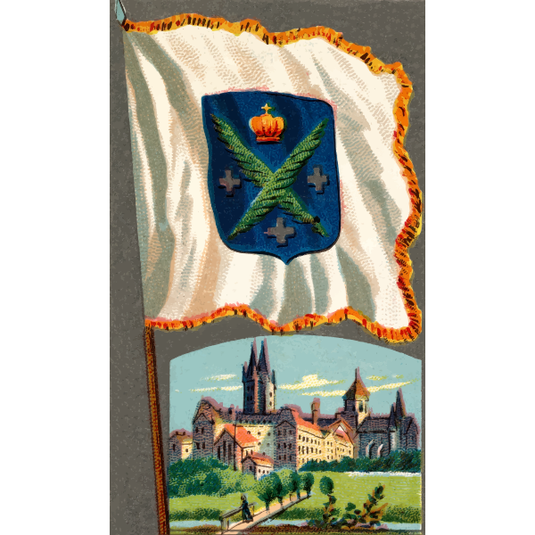 City flag with crest