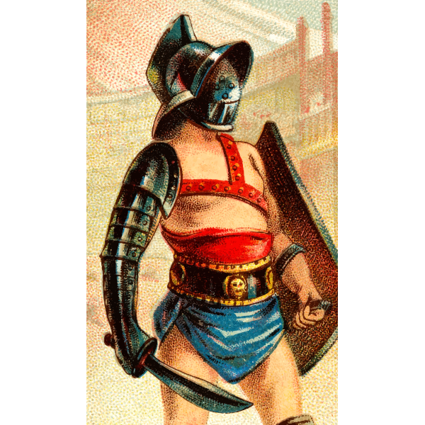 Gladiator with sword