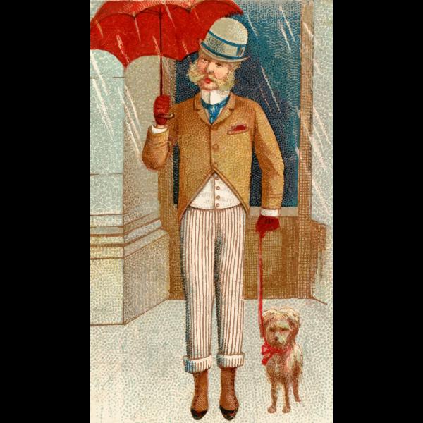 Vintage man and dog