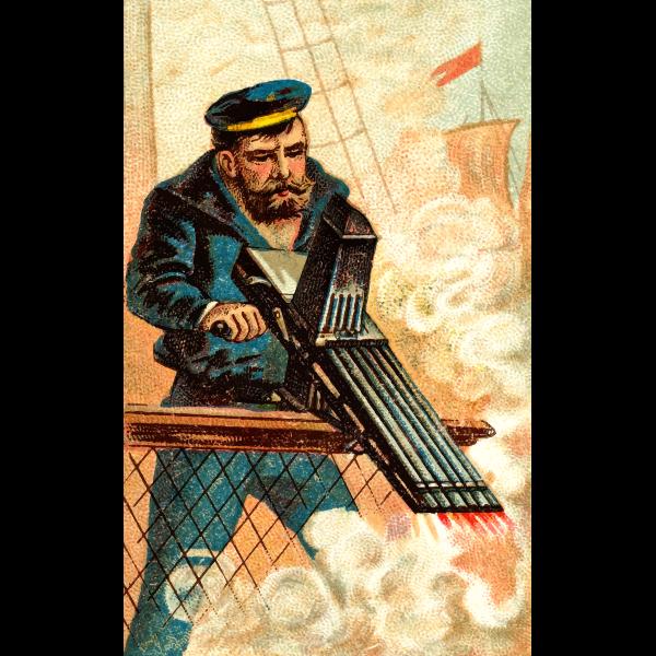 Machine gun image