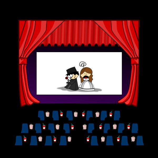 Cinema hall vector drawing