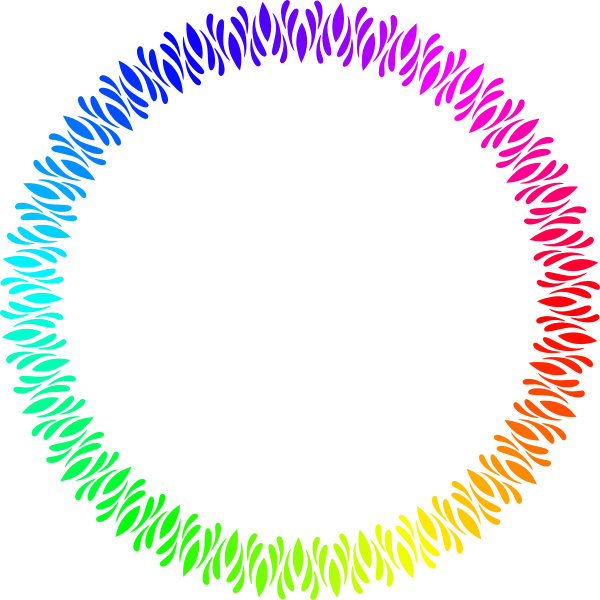 Circular Frame Rainbow Color