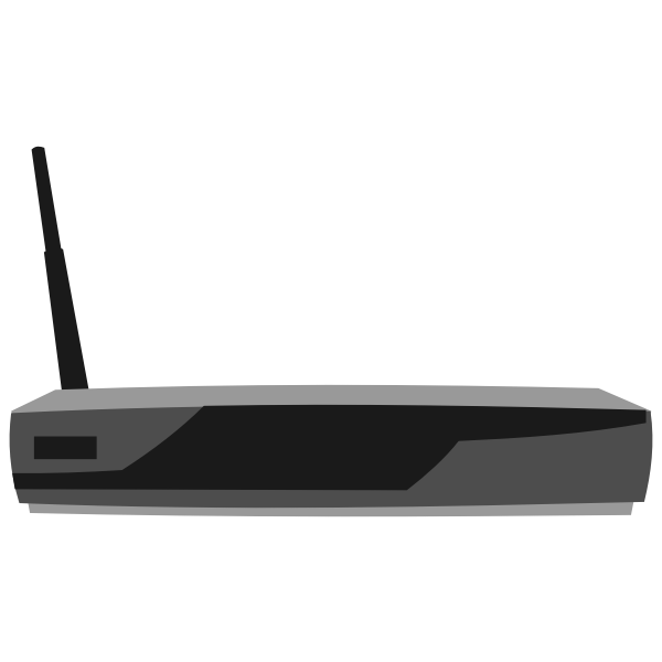 Cisco 851 Integrated services router vector clip art