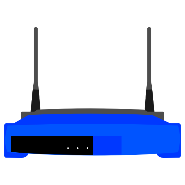 Linksys SE2800 wireless router vector image