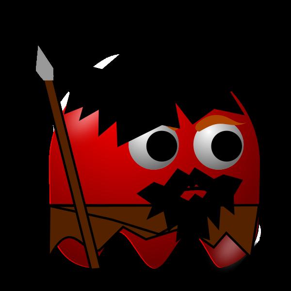 Ice Age hunter padepokan vector illustration