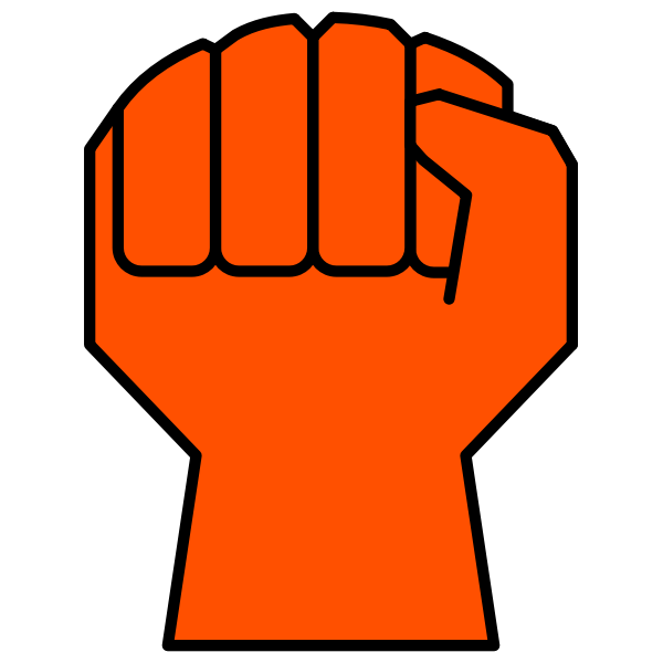 Clenched fist icon