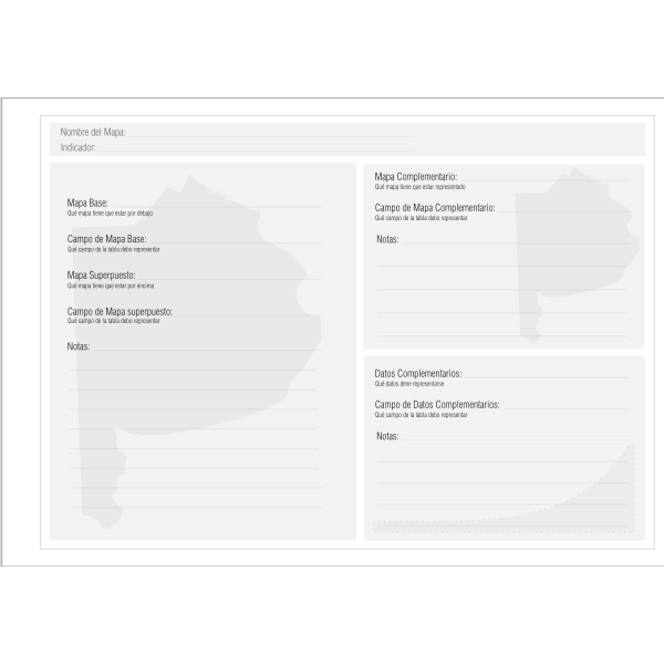 GIS document template vector image