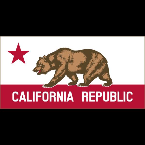 Clipart California Banner Thin Border