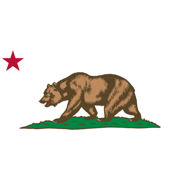 Clipart Flag of California Star Bear Plot