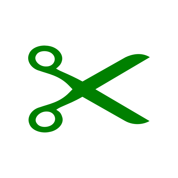 Vector clip art of green scissors
