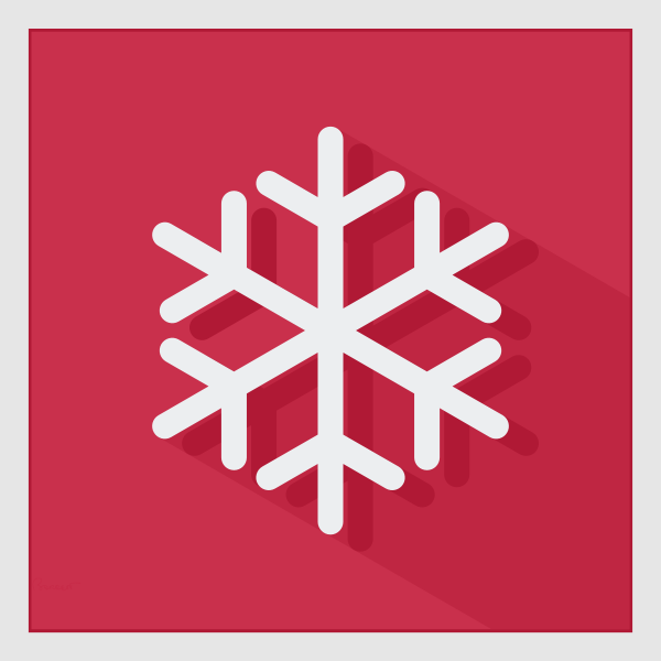 Vector graphics of winter snow crystal sign