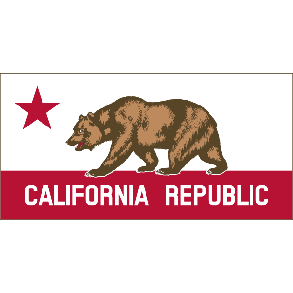 California Republic banner vector clip art