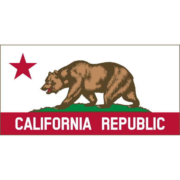 Californian Republic banner vector clip art